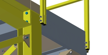 Conveyor Tower Handrail Mounting