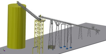 Conveyor Tower Layout Front