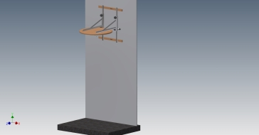 Speed Bag Platform Assembly wall mounted